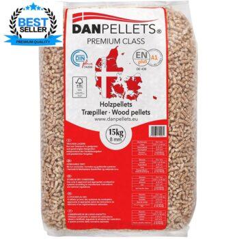 DanPellets -Premium Class - 8 mm - 15 kg sæk
